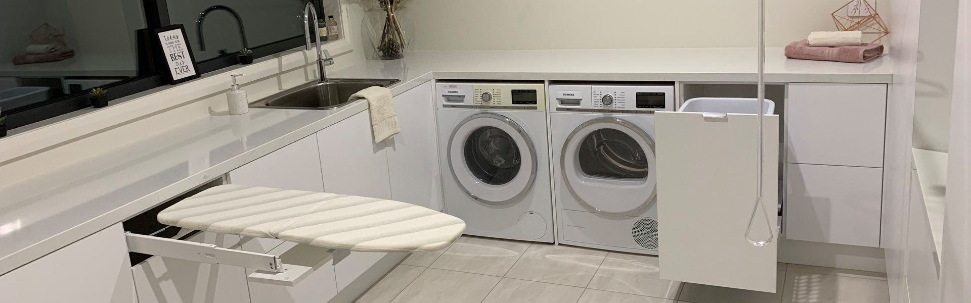 <h1>Laundries</h1><p><a href='project-management/'>Learn More</a>Make you new laundry a fully functional and practical room to enjoy for years to come.</p>